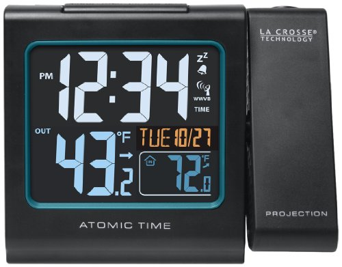 La Crosse Technology 616-146 Atomic Color Projection Alarm Clock