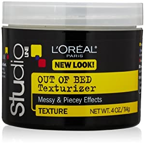 L'Oreal Paris Studio Line Texture and Control Unkempt Out of Bed Hair Texturizer, 4.0 Fluid Ounce