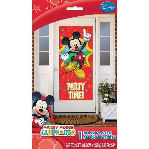 Mickey Mouse Door Poster - Holiday and Party Supplies