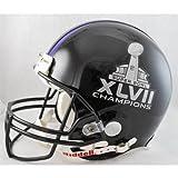 NFL Baltimore Ravens SB47 Champs Riddell Mini Replica Football Helmet