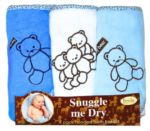 Frenchie Mini Couture Bear Hooded Towel Set,