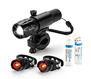 OxyLED® BL30 lampe de poche feux arrière de vélo USB rechargeable Ensemble éclairage puissant