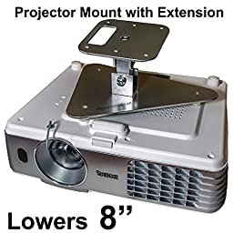 Projector-Gear Projector Ceiling Mount for EPSON PowerLite Home Cinema 2045 with Extension Lowers 8\