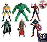 Toy - Figur 6 St�ck The Avengers Film Hulk Loki Steve Rogers / Captain America Tony Stark / Iron Man Thor Natasha Romanoff / Black Widow Action Figure 15cm