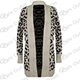Be Jealous New Front Open Skull Womens Waterfall Long Sweater Knitted Cardigan Top