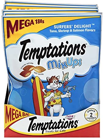 6.3oz Whiskas Temptations Mixups for Cats (Surfers Delight) $2.03