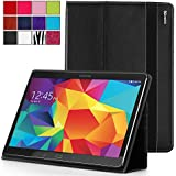 Samsung Galaxy Tab S 10.5 Case - Poetic Samsung Galaxy Tab S 10.5 Case [SlimBook Series] - [SlimFit] [Professional] PU Leather Slim Folio Case for Samsung Galaxy Tab S 10.5 Black (3 Year Manufacturer Warranty From Poetic)