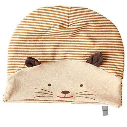 Frbelle 3D Katze Baby Hut Mütze Newborn Unisex Baby 100% Baumwolle Hüte Mützchen Geburtsgeschenk Für 3-18 Monaten Baby