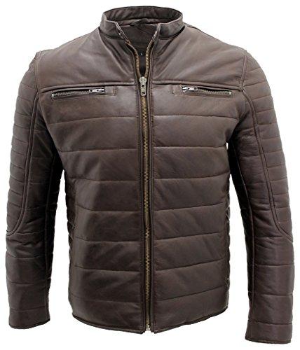 hommes-puffer-veste-motard-cuir-marron-lambris-s