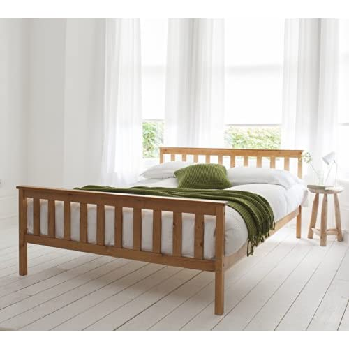 Double Bed in Pine 4'6 Double Bed Wooden Frame PINE Dorset