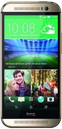HTC One (M8) Smartphone (12,7 cm (5 Zoll) LCD-Display, Quad-Core, 2,3GHz, 2GB RAM, 5 Megapixel Kamera, FM-Radio, Android 4.4.2) gold