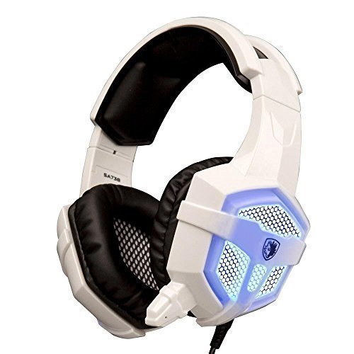 SADES SA-738 PC Gaming Headset With LED With Microphone, Professional Stereo Headphone 3.5mm LED With W/ Protein...