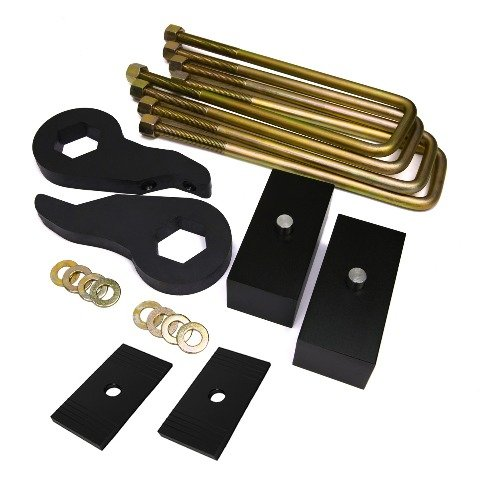 1988 - 1999 K1500 Lift Kit 1 - 3 Inch Front Lift 2 Inch Rear Lift BIG BRAWNS Carbon Steel Torsion Bar Lift Keys Lift Blocks and Extended U-Bolts and Axle Shims (94 K1500 Lift Kit compare prices)