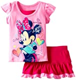 Disney Baby-Girls Infant 2 Piece Minnie Mouse Heart Pullover And Knit Skirt