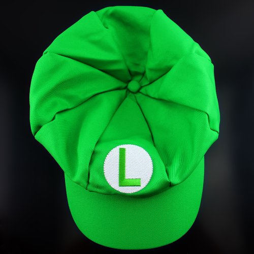 Harryshell Stylish Super Mario Hat for Adult Cotton Elastic Hat Cosplay Hats Green