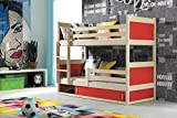 Etagenbett RICO 2 aus Kieferholz 200/90 + 2 Matratzen + Lattenrost gratis