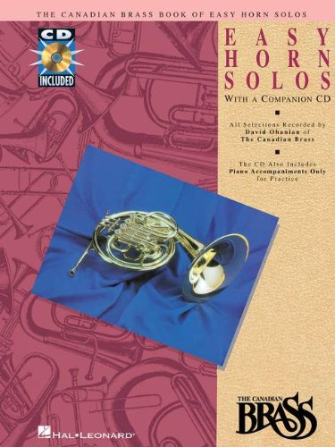 CANADIAN BRASS BOOK OF EASY  HORN SOLOS BK/CD