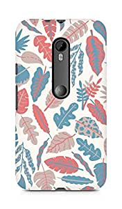 AMEZ designer printed 3d premium high quality back case cover for Moto G Turbo Edition (leaves feathers colourful)