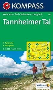 Tannheimer Tal: Wander-, Bike- und Skitourenkarte. Mit Panorama. GPS-genau. 1:35.000