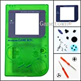 Gametown® Full Housing Shell Cover Case Pack with Screwdriver for Nintendo Gameboy Classic/Original GB DMG-01 Repair Part-Clear Green