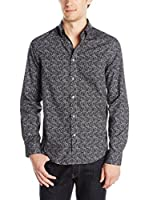 Ben Sherman Camisa Hombre Ls Multi Colour Paisley (Antracita)