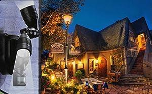 Solar Garage Lights Doulbe Head Spot Light Outdoor Garden Led Po