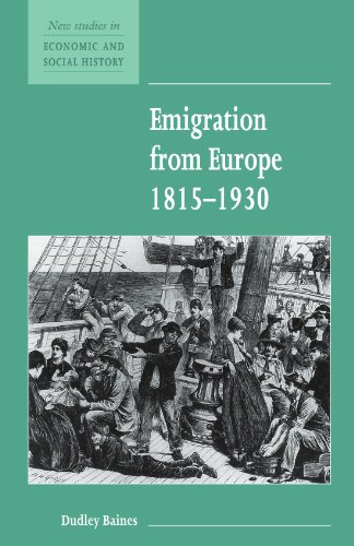 Emigration from Europe 1815-1930 (New Studies in Economic and Social History) PDF
