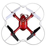 SYMA RTF Aire X11C mini aviones no tripulados de 360 grados helicópteros 3D - 2.4G 4 canales 6 Eje de 360 grados RC Quadcopter con la cámara 2.0MP + colorido que destella luz LED (X11C rojo)