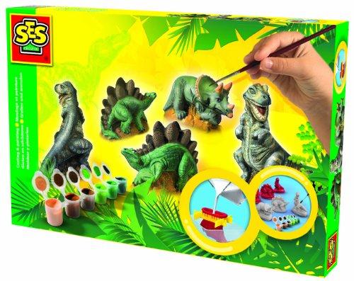 Ses-01406-Kit-de-Loisir-Cratif-Moulage-et-Peinture-Dinosaures