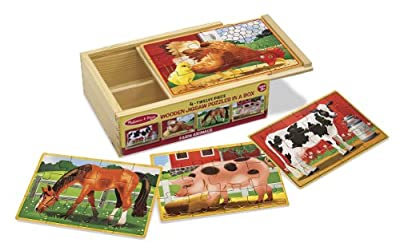 Melissa & Doug Deluxe Farm in a Box Jigsaw Puzzles by Melissa & Doug