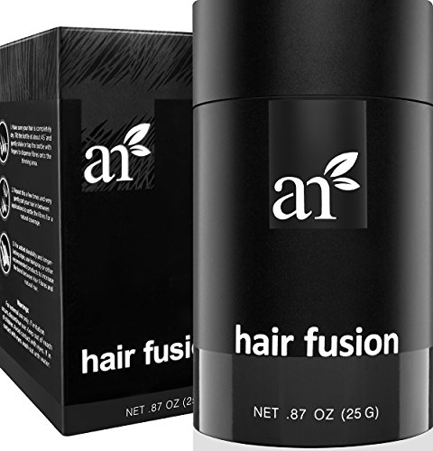 Art Naturals Hair Fusion - Black - Hair Building Fibers 25 Grams to fill Thinning, Sparse or Balding Areas - Made of natural, colored Keratin Fibers that blend undetectable into existing hair