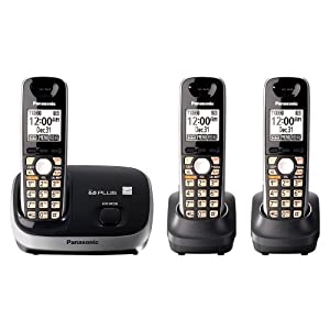 Panasonic KX-TG6513B expandable cordless phone system