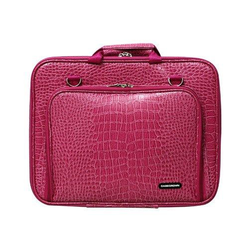 CaseCrown Memory Foam Pocket Case (Alligator Hot Pink) for 15 Inch Laptop