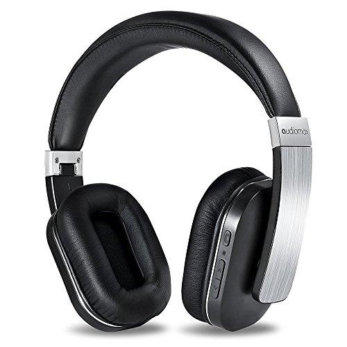 Audiomax HB-8Aワイヤレスヘッドホン マイク内蔵、密閉式Bluetoothステレオヘッドフォン(19時間連続稼動)