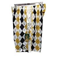 Flow Society Lacrosse Gear Argyle Navy/Gold Lax Short Adult (XL) Extra Large