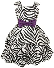 Cinderella Couture Girls Zebra Print Pick Up Party Dress amp Contrasting Bow
