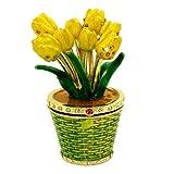 Objet D'Art トリンケットボックス リリースNo.342「Tiptoe Through The Tulips」鉢植えチューリップの宝石箱