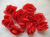 ローズ バラ 造花 花 部分のみ 直径 8センチ 赤 ピンク 白 60個 セット (セットA)
