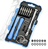 Cell Phone Repair Tools - 17-Pc Precision iPhone Repair Kit - Magnetic Pro Smartphone Tool Set with Screwdriver, Bits, Pry Bars and Suction Cup by Geeks N GearTM - Repairs Cell Phone, Screen, Laptop, Computer, Tablets and more