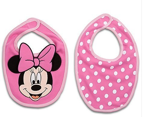 Disney Minnie Mouse Pink Bib Set for Baby - 2 Bibs - 1