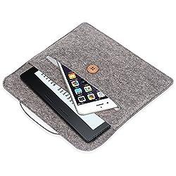 Kindle Oasis Sleeve Case, Pasonomi Premium Felt Sleeve Case - Portable Carrying Protective Case Cover Pouch for Amazon Kindle Oasis, Kindle Paperwhite, Kindle Voyage (Gray)