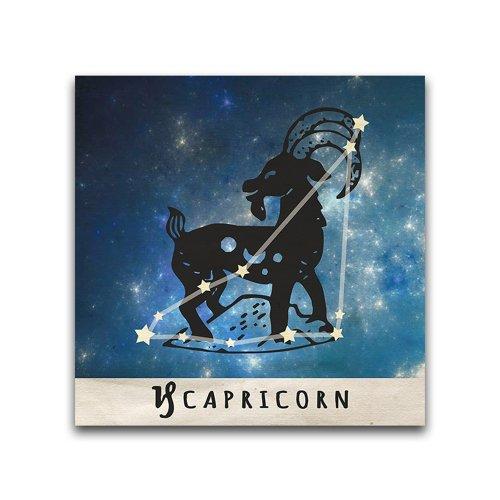 16x16-Capricorn-Zodiac-Constellation-Printed-Metal