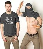 Ninja Face T Shirt Cool Ninja Disguise Funny Shirt 2XL