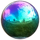 Lily's Home Gazing Globe Mirror Ball in Rainbow Stainless Steel - 12 Inch