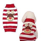 Weihnachten Hund Welpen Katze Warm Pullover Knit Pullover Kleidung gestreift Santa Claus Strickwaren Mantel Kostüme Apparel
