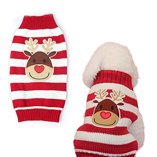 weihnachten-hund-welpen-katze-warm-pullover-knit-pullover-kleidung-gestreift-santa-claus-strickwaren