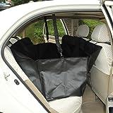 LAGUTE Hundedecke Autoschutzdecke Tiermatte Hängedecke Schutzdecke für Tier (Mit Seitenschutz, Schwarz)