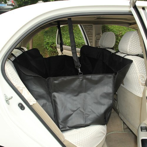 Lagute Pet Mat Seat Cover for Car, Easy to Install and Remove (Black, With Side Protection)