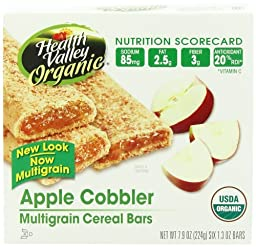 Health Valley Organic Multigrain Cereal Bars, Apple Cobbler, 6 Count (Pack of 6)
