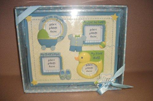 pretty baby milestone baby frame blue